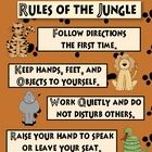 Companion Piece to Jungle Theme Behavior Management System available for purchase at our shop.     Want your own rules customized? Just contact us ...