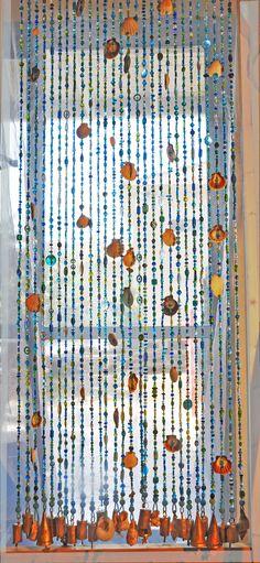 Door Beaded Curtains, Door Beads With Sea Shells, Seashells Strings, Beaded  Curtain, Hanging Door Beads,Room Divider, Seashell Decor