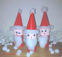 DIY pere noël papier toilette vide Toilet Paper Roll Crafts, Diy For Kids, Activities, Christmas Ornaments, Christmas Trees, Holiday Decor, Home Decor, Instant Karma, Animation