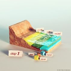 Power Giants - lowpoly paperworld on Behance  Low poly + water graphics