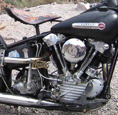 Photo of 1947 Harley Davidson FL Knucklehead Engine.
