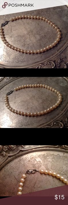 "Vintage faux pearl necklace 20"" Vintage 20""faux pearl necklace Jewelry Necklaces"