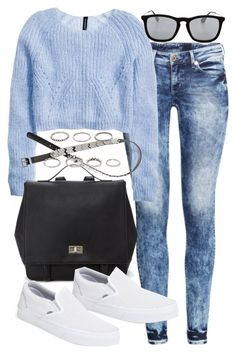 """Untitled #16996"" by florencia95 ❤ liked on Polyvore featuring H&M, Forever 21, Vans and Ray-Ban"