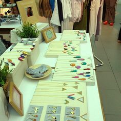 """SHOWROOM """"THE WAY WE LIVE"""" by De Puntillas´, via Flickr  #display #ideas #craft #shows #market #jewelry #craft #stall #markets #handmade"""