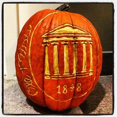 Spotted on campus - this awesome Lyceum pumpkin. Thanks for Instagramming @shanegrrrggg