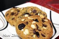 Cookies de chocolate e cranberries » NacoZinha - Blog de culinária, gastronomia e flores - Gina