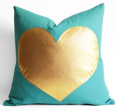 Hey, I found this really awesome Etsy listing at https://www.etsy.com/listing/69313815/sukan-turquoise-and-gold-pillows-white