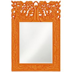 Howard Elliott Oakvale Orange Mirror 4084O