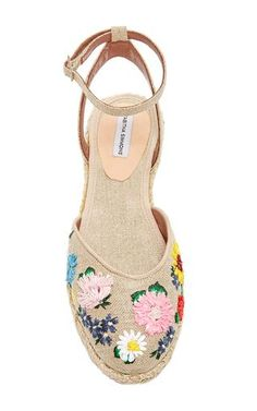 8584d7fd7a2 Natural Linen Embroidered Dotty Meadow Espadrille by Tabitha Simmons for  Preorder on Moda Operandi Espadrille Shoes