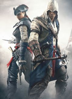 Aveline and Connor from Assassin's Creed III and Assassin's Creed III: Liberation