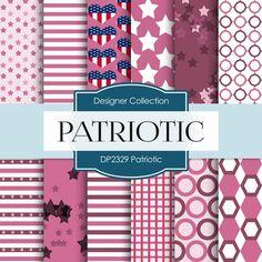 Patriotic Digital Paper DP2329 - Digital Paper Shop - 1