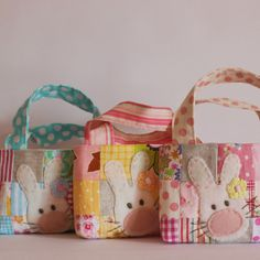 Roxy Creations: More sweet bunny bags and softies
