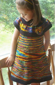 Платье-туника для девочки. От 1 года до 9 лет.
