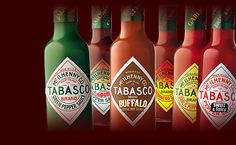 Whether you add a splash of Original Red, Green Jalapeño, or Chipotle, we love Tabasco.