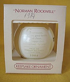 Hallmark 1984 Norman Rockwell Glass Sleeved Ornament