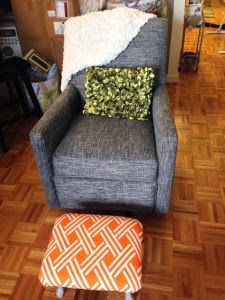 DIY Rocking Chair From Consignment Upholstered Regular Chair: Experience  Reupholstering Furniture Prior To This Project: None