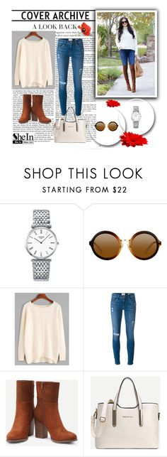 """SheIn 4/I"" by hedija-okanovic ❤ liked on Polyvore featuring Longines, Frame and shein"