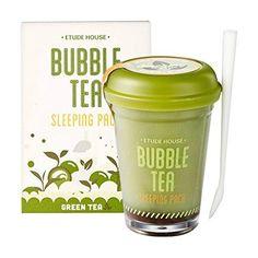 Etude House Bubble Tea Sleeping Pack (100g) (Green Tea) E...