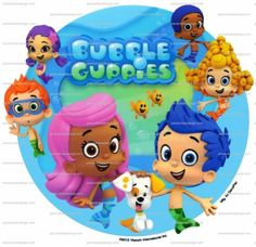 8 ~ Bubble Guppies Characters Background Birthday ~ Edible Image Cake/Cupcake Topper!!! *** Quickly view this special product, click the image : baking decorations