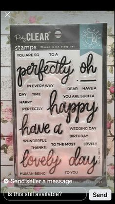 Piping Templates, Have A Day, Day And Time, Clear Stamps, Wedding Day, Thankful, Birthday, Happy, Art