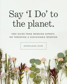 Did you know an average wedding produces 400 pounds of waste? Learn how to throw a sustainable wedding with our 32 page guide from eco-friendly wedding experts. Paper Culture offers sustainable designs in wedding invitations and stationery. Every order Green Wedding, Chic Wedding, Wedding Tips, Wedding Themes, Fall Wedding, Our Wedding, Eco Wedding Ideas, Wedding Reception, Wedding Venues