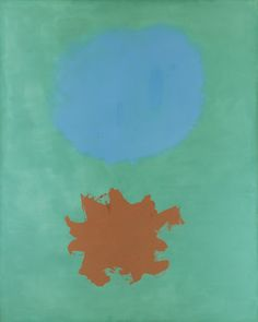 "Adolph Gottlieb / Expanding , 1962. Oil on canvas, 90"" x 72"" (228.6 cm x 182.9 cm)."