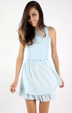 blue studded dress - Google Search