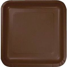 "Amazon.com: Custom & Unique {7"" Inch} 18 Count Bulk Multi-Pack Set of Medium Size Square Disposable Paper Plates w/ Simple Modern Plain Thanksgiving Celebration Party ""Brown Colored"": Kitchen & Dining"