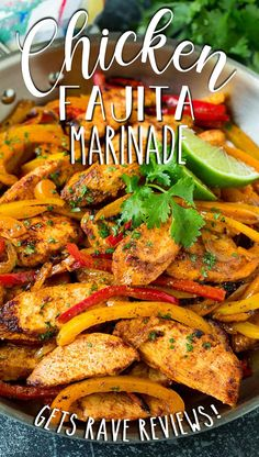 This chicken fajita marinade is a blend of olive oil, lime juice and spices, all mixed together to form the perfect flavoring for zesty fajitas. Meal Ideas, Dinner Ideas, Fajita Marinade, Mexican Food Recipes, Ethnic Recipes, Cooking On A Budget, Chicken Fajitas, Lime Juice, Nachos
