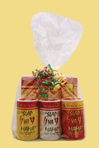 All my Slap Ya Mama favorites! Original, white pepper and hot Cajun seasoning blends, fish fry and the hot pepper sauce I love so much! Great gift!