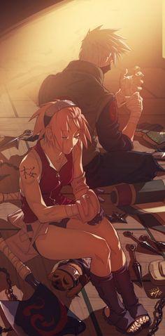 Pakkun, Sakura, Kakashi