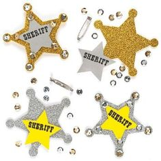 Make your own Sheriff badge for a Sheriff Callie party craft-can also be the party favor, too!
