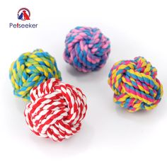 Colorful Cotton Rope Ball Dog Toy Weaving Durable Chew Puppy Teething Toys Cotton Rope Ball Interactive Training Pets Dogs Toys. Yesterday's price: US $4.99 (4.12 EUR). Today's price: US $4.29 (3.55 EUR). Discount: 14%.