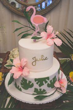 More decorating ideas on albums: Flamingo Party 1 Flamingo Party 2 Flamingo Party, Flamingo Baby Shower, Flamingo Cake, Flamingo Birthday, Hawaiian Birthday, Luau Birthday, Cool Birthday Cakes, Birthday Parties, Hawaiian Party Cake