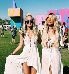 Lennon Stella with Ally Adams at Coachella