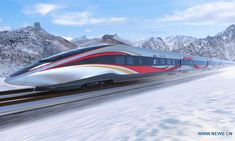 "Global Times reported that China will complete testing next year of a ""smart"" high-speed train that will run on a new line linking Beijing and Zhangjiakou, co-hosts of the 2022 Winter Olympic Games. 2022 Winter Olympic Games, 2022 Winter Olympics, Rail Transport, Public Transport, Station To Station, High Speed Rail, Speed Training, Transportation Design, Beijing"