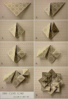 Star paper flower origami diagram tutorial start of diagram _ plants origami _ origami tutorial (a) - sun drying Paper NetworkSandy's Space: Teabag Folding Flowers~ Use Security Liners?Folding Flowers: try to make with napkinsDIY origami squash fold Origami Design, Origami Modular, Instruções Origami, Origami Paper Folding, Origami And Kirigami, Fabric Origami, Useful Origami, Oragami, Origami Ideas