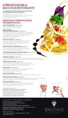 Calendario corsi di cucina 2013 - al Bacchus Ristorante