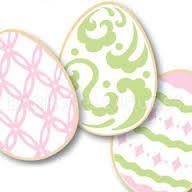 Image result for stenciled easter egg cookies