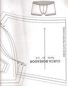 Sewing Pattern for boxer briefs