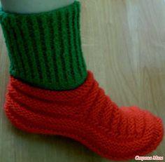 Мои любимые носочки (на двух спицах)