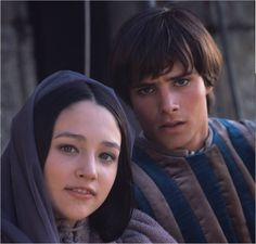 Olivia Hussey and Leonard Whiting in the 1968 movie, Romeo and Juliet, directed by Franco Zeffirelli.