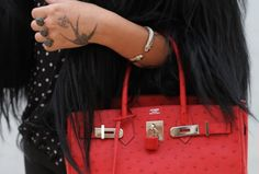 Red is one of my all time favorite colors...hermes bag in red <3