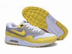 Nike Air Max 87 gris / amarillo / blanco http://www.esnikerun.com/