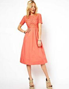 Image 4 of ASOS PETITE Exclusive Lace Midi Dress