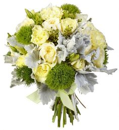 #gray & yellow wedding bouquet  ... Wedding ideas for brides, grooms, parents & planners ... https://itunes.apple.com/us/app/the-gold-wedding-planner/id498112599?ls=1=8 ... plus how to organise your entire wedding ... The Gold Wedding Planner iPhone App ♥
