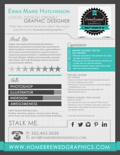 Infographic Resume Erika M. Hutchinson Homebrewed Graphics - Want to make your own graphic resume? Go to http://styleresumes.com. Like our FB page https://www.facebook.com/pages/Style-Resumes/395730460525201 and Follow our Twitter https://twitter.com/StyleResumes1 for more #ResumeTips and inspiration!