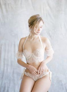 Lingerie Set — Joy Proctor Design Elizabeth Messina, Boudoir Photography, Lingerie Set, Cap Sleeves, Bikinis, Swimwear, Joy, Fine Art, Lace