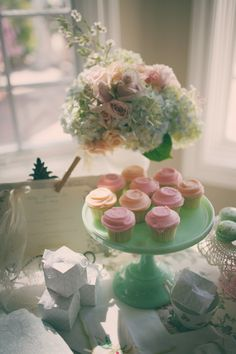 Pastel vintage tea party -can DIY cake stands from dollar store