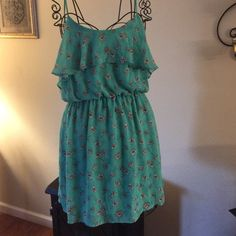 Wet seal brand Summer dress Adorable teal colored summer dress in excellent used condition Wet Seal Dresses Midi